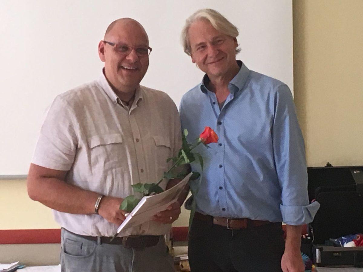 Carsten Riedel Als Trainer Zertifiziert, Carsten Riedel Und Albert Glossner