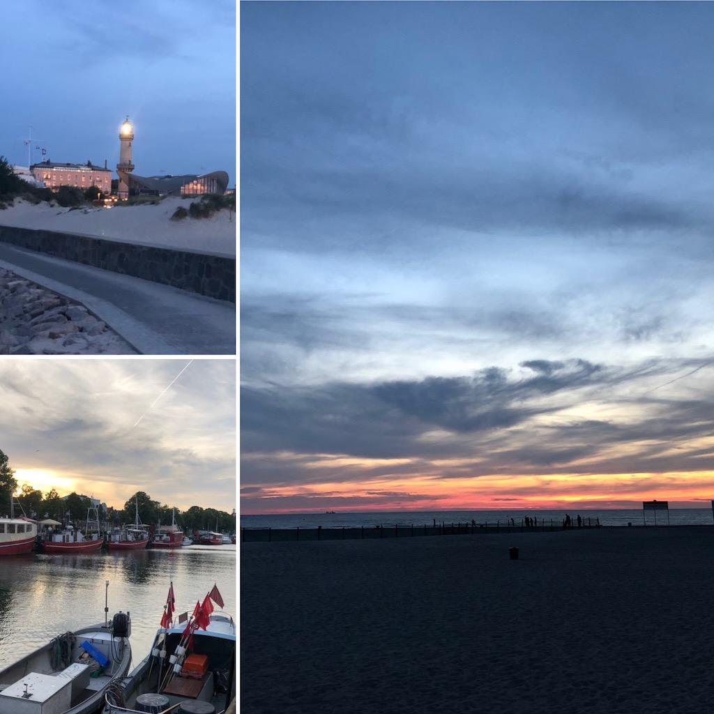 Impressionen Warnemünde im Sonnenuntergang