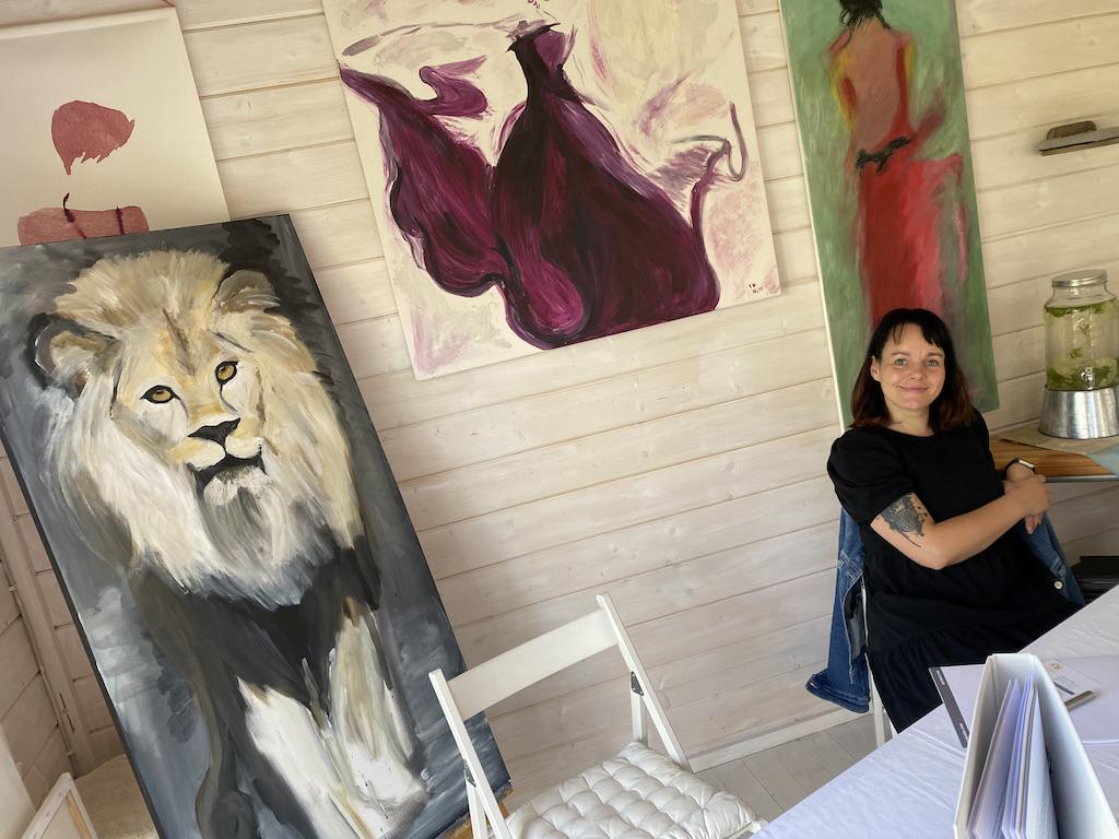 Katja Im Atelier
